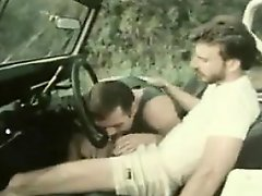 Vintage Blowjob In The Car Outdoors