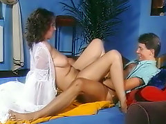 Pretty chubby chick is fucking in a retro clip