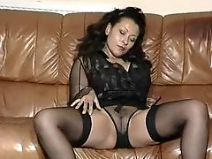 Vintage mature big tit striptease