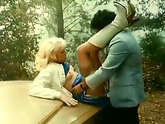 Nasty Ron Jeremy properly fucks his blonde vixen in the woods