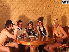 Today you will see absolutely amazing sex party in retro style, definitely worth to see how this cute girls dressed in 19 century style will suck absolutely gigantic cock!