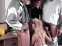 Classic Paramour Samantha Rock Hard Blows Her Mans Hard Cock Like A Yummy Sausage