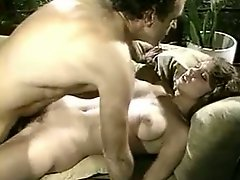 Horny dude eating hairy pussy of one lusty classic whore