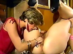 Sizzling lesbian massages her girlfriend and fucks her cunt with fist