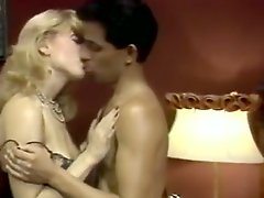 Busty blond salacious hoe fucks with black mustached dude