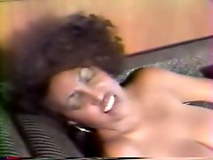 Dirty ebony whore with gigantic boobs gets her hairy pussy licked greedily