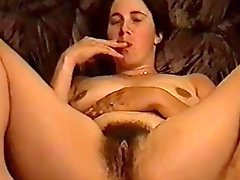 Homemade retro erotic tape of chubby woman masturbating