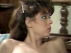 Two retro sluts with huge full natural boobs give blowjob to one lucky dude