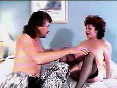 Retro mature foreplay and titjob