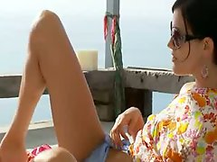 Blackhair russian Mia banged Nature