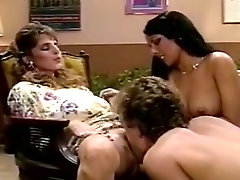 Hyapatia Lee, Rosemarie, Joey Silvera in threesome retro scene