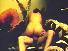 Vintage pornstar sucks and fucks a monster cock
