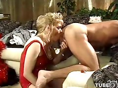 Vintage TS licks ass of her fucker