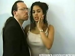 Hot latina babe makes ed eager to fuck