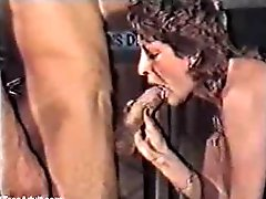 Classic German scene- mature giving blowjob and mouthfull of cum