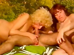 Lustful blonde mom is butt fucked in provocative retro porn clip