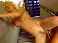 Retro video with sexy blonde chick getting fucked and facialed