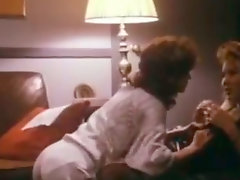 Passionate lesbian scene with two splendid retro beauties